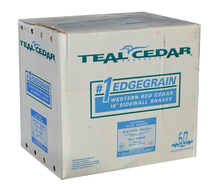 """Box 18"""" #1 R&R Natural Teal Cedar"""